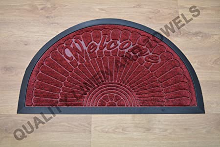 Mattex Pvc Half Moon Shaped Non Slip Door Mat Thick Rubber Backed