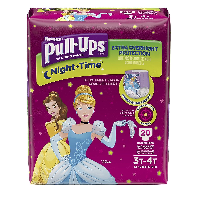 Huggies Pull Ups Nighttime Training Pants   Girls   3 T 4 T   20 Ct by Huggies