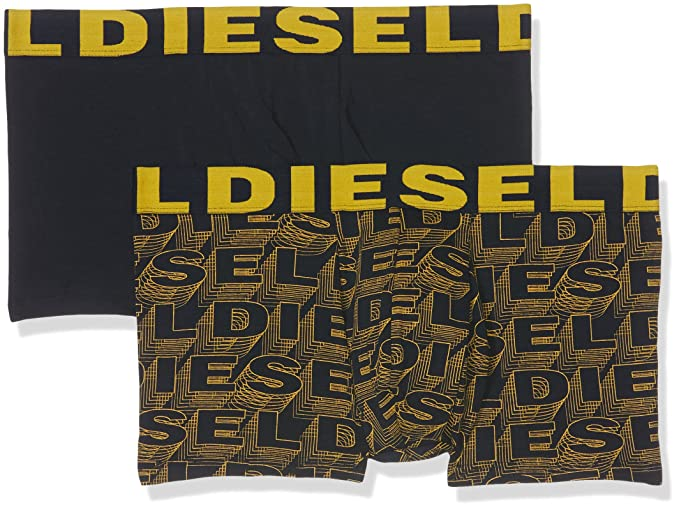 Diesel UMBX-Shawn, Bóxer para Hombre, Mehrfarbig Black-Yellow-Logo 89Da, Small(Pack de 2): Amazon.es: Ropa y accesorios