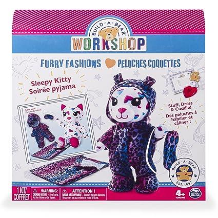 amazon com build a bear workshop furry fashions sleepy kitty
