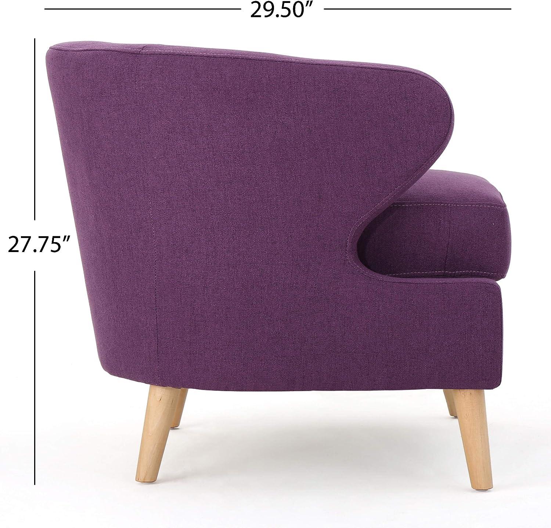 Christopher Knight Home Gianna Petite Mid-Century Fabric Club Chair, Purple