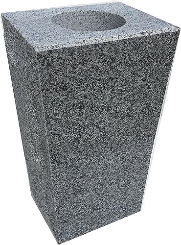 Upstate Stone Works Granite Vase Tapered 5 x4 x9 Gray