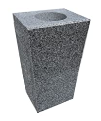 """Granite Vase Tapered (5""""x4""""x9"""") Gray"""