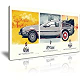 Back to the Future Canvas Wall Art Picture Print 60x30cm