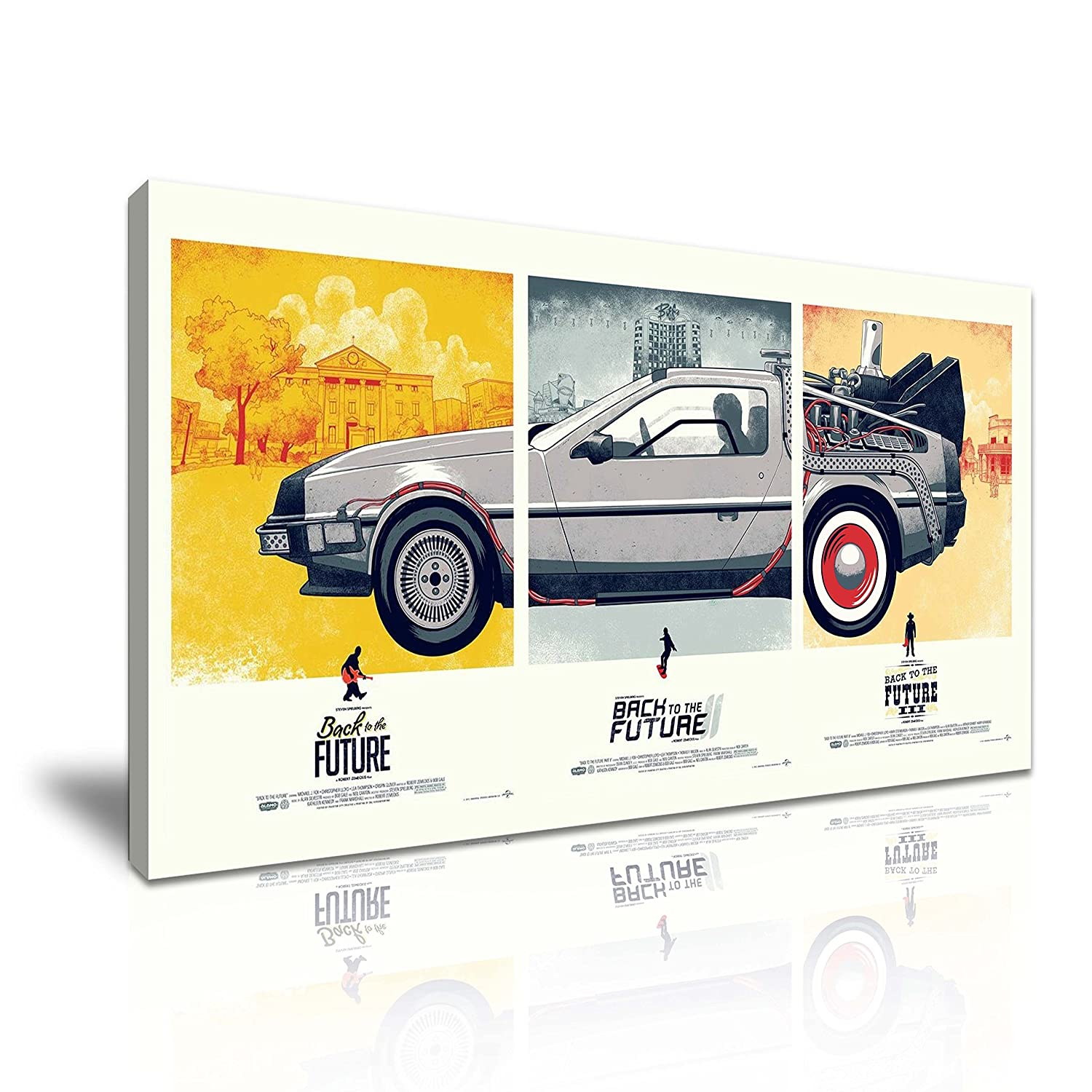 Back to the Future Delorean Classic Car Canvas Modern Wall Art 9 Sizes to Choose