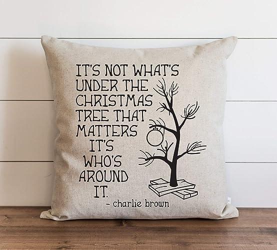 Charlie Brown Christmas Tree Quote.Amazon Com Christmas Pillow Cover Charlie Brown Quote