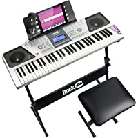 RockJam RJ661-SK 61 Toetsenbord Piano Kit 61 Key Digitale Piano Toetsenbord Bank Toetsenbord Stand Koptelefoon Piano…