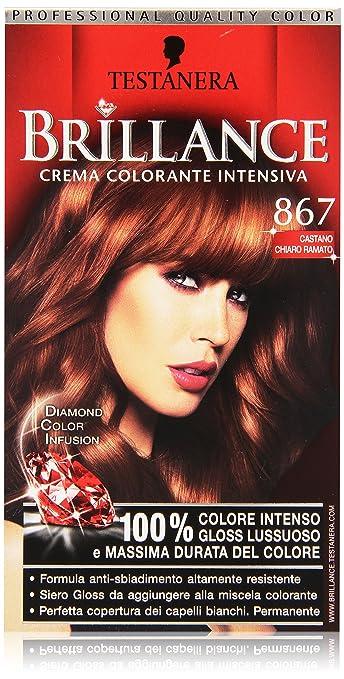 Favorito Testanera - Brillance, Crema Colorante Intensiva, 867 castano  SV97