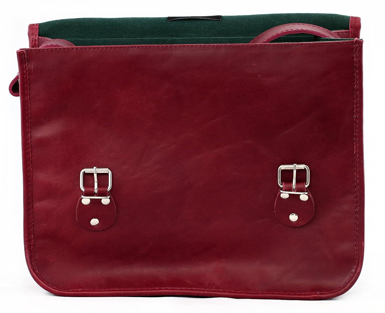9018fda38c LA SACOCHE BORDEAUX (M) Vintage Leather Satchel Shoulder Bag (A4) burgundy  Unisex Computer bag School satchel PAUL MARIUS Vintage & Retro:  Amazon.co.uk: ...
