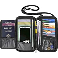 RFID Passport Holder Travel Wallet for Men and Women