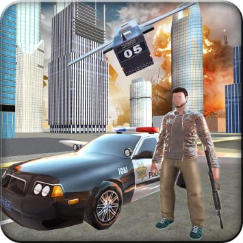 Flying Police Car Gangsters La Evolution Adventure D Vegas Crime City Gangster Shooting King Adventure