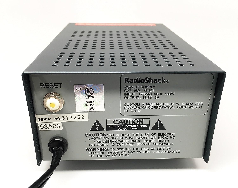Amazon com : Radio Shack Regulated Power Supply 3 Amp 13 8v
