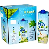 Vita Coco Coconut Water, Pure, Non-GMO, Gluten-Free, Vitamin and Electrolyte-Rich Beverage to Fuel Energy and Hydration, 33.8 Ounce (Pack of 6)
