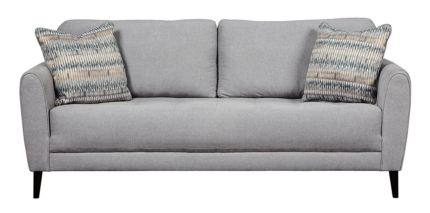 Ashley Furniture Signature Design - Cardello Contemporary Upholstered Sofa - Pewter