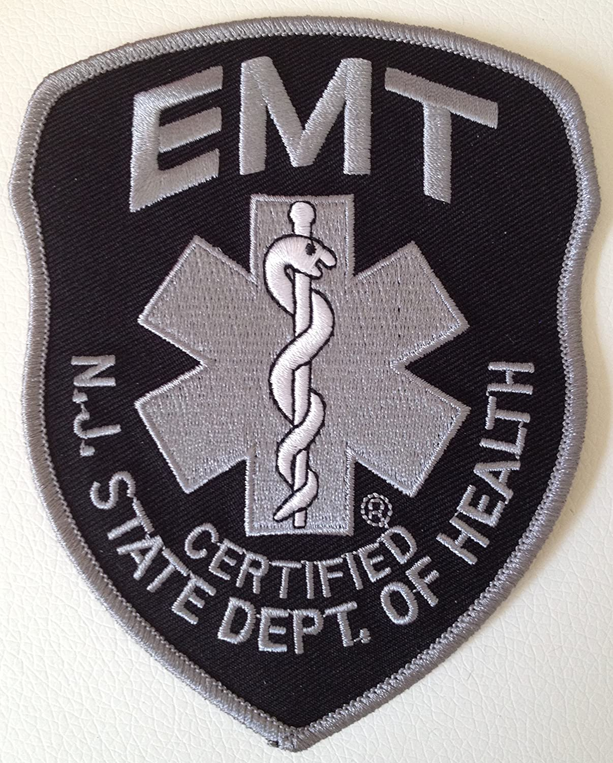 Amazon New Jersey Emt Patch Gray On Black 4 X 5