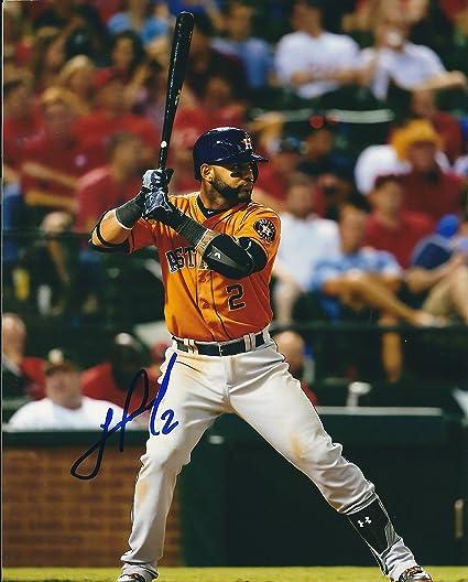Autographs-original Jonathan Villar Signed Baseball