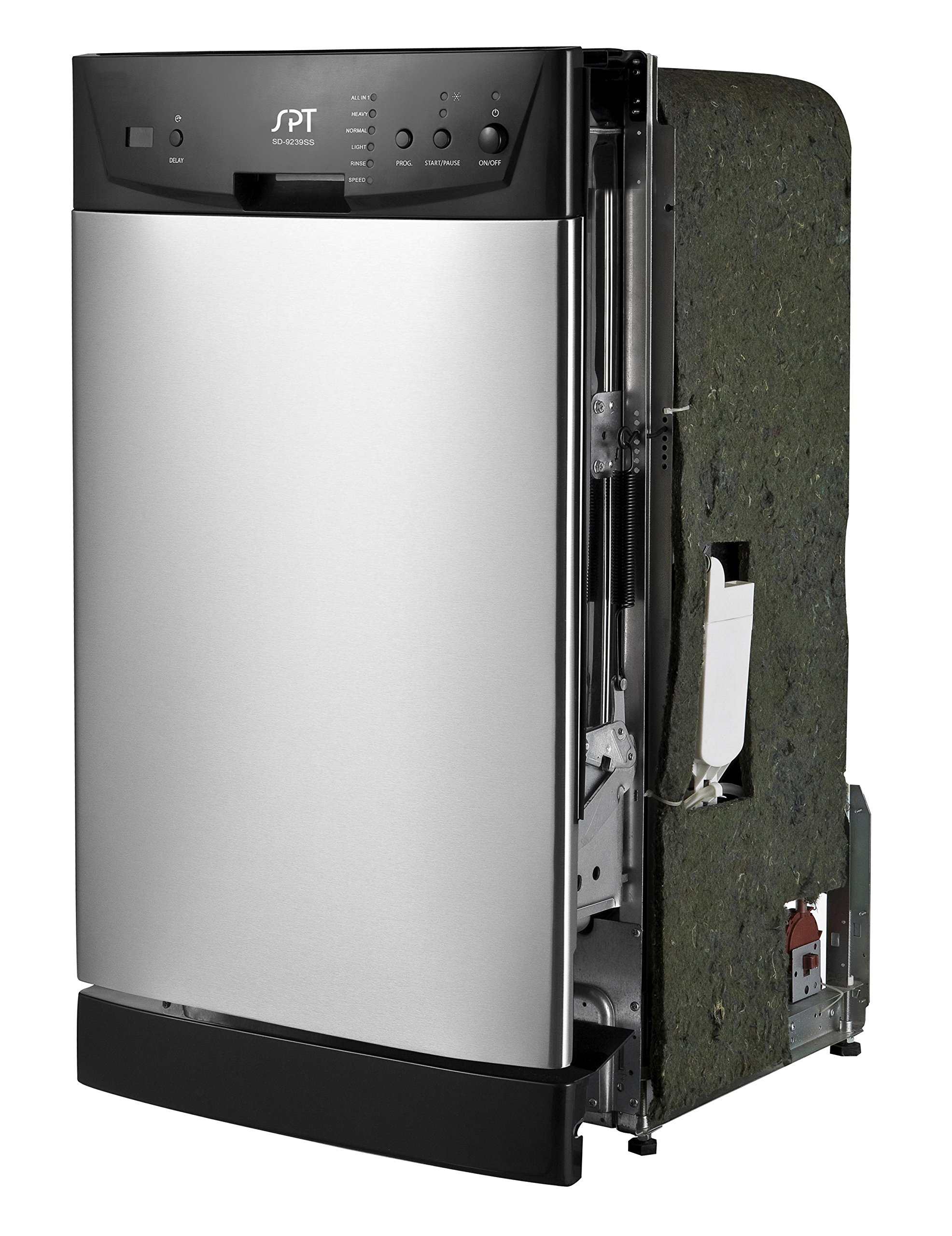 SPT SD-9252SS Energy Star 18'' Built-In Dishwasher, Stainless Steel by SPT