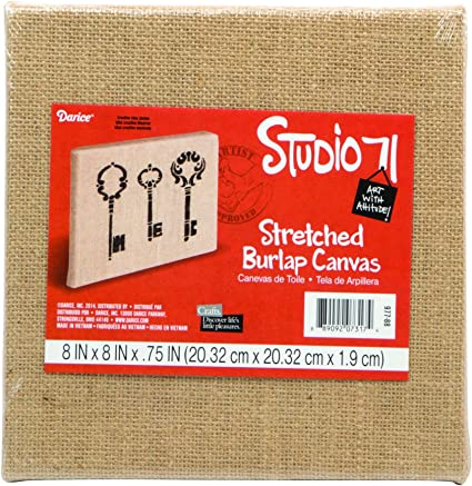 Sargent Art 90-2026 Stretched Burlap Canvas 8 x 10