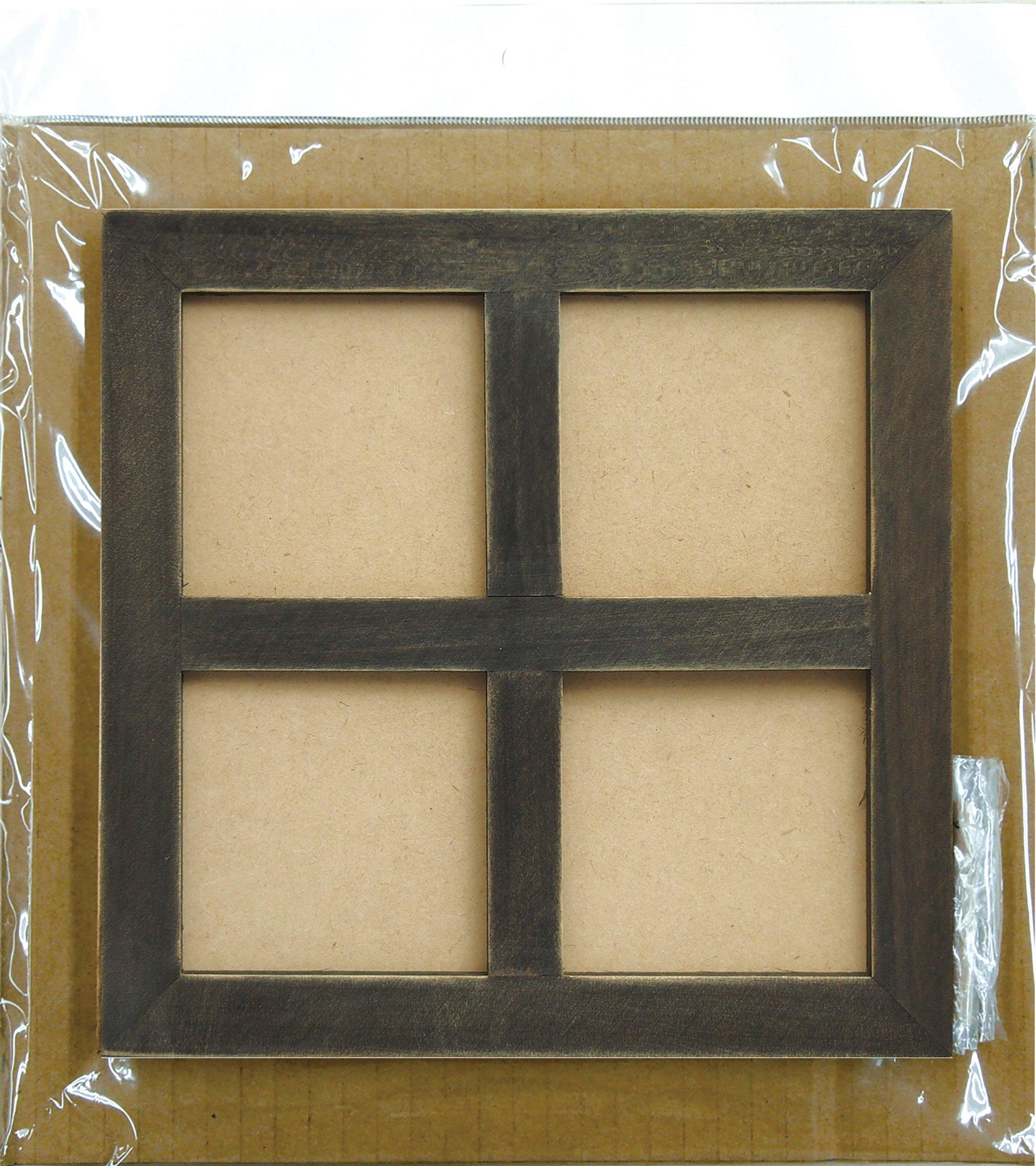 HAKKU Hair Iron Kawaguchi Four-Window Frame Black 96-893, medium, Clear