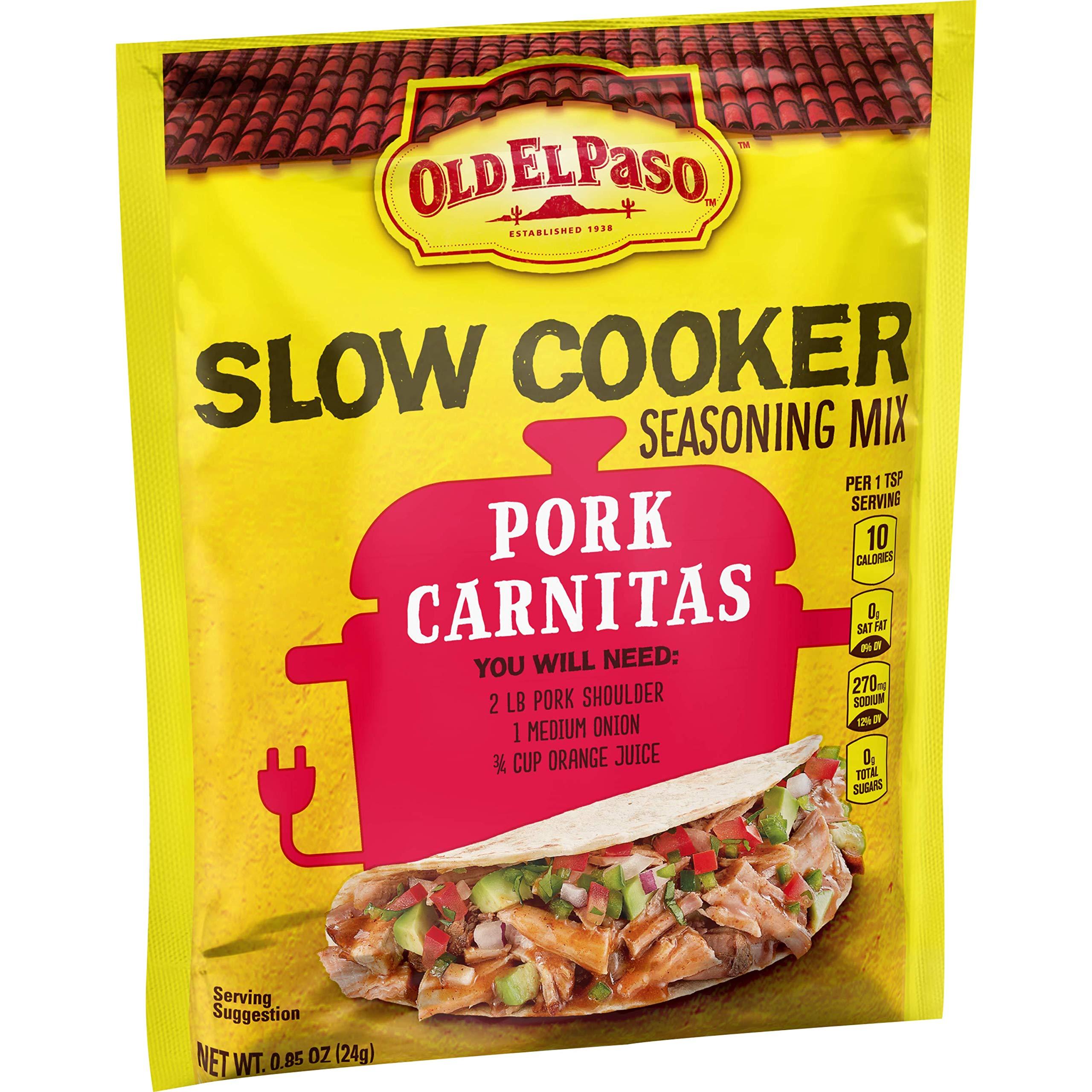 Old El Paso Slow Cooker Seasoning Mix Pork Carnitas, 0.85 oz (Pack of 32) by Old El Paso