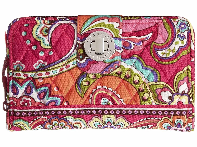Vera BradleyレディースTurn Lock Wallet B00JLQBRCY Pink Swirls Pink Swirls