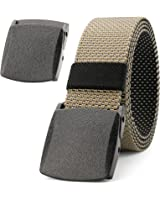"""Mens Tactical Web Belt,JASGOOD 1.5"""" Wide Nylon Military Style Webbing Belt with Standy Plastic Buckle"""