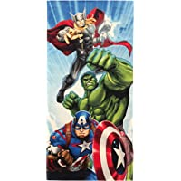 Jay Franco Marvel Avengers Battle Ready Kids Bath/Pool/Beach Towel - Super Soft & Absorbent Fade Resistant Cotton Towel, Measures 28 inch x 58 inch (Official Marvel Product)