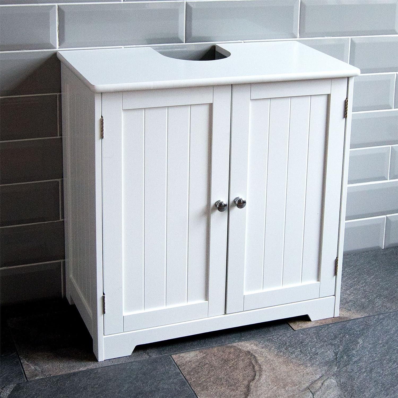 Bath Vida Priano Under Sink Bathroom Cabinet Sink Unit Standing White Amazon De Küche Haushalt