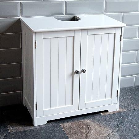 Bath Vida Priano Under Sink Bathroom Cabinet Floor Standing Storage Cupboard Basin Unit White Amazon Co Uk Kitchen Home