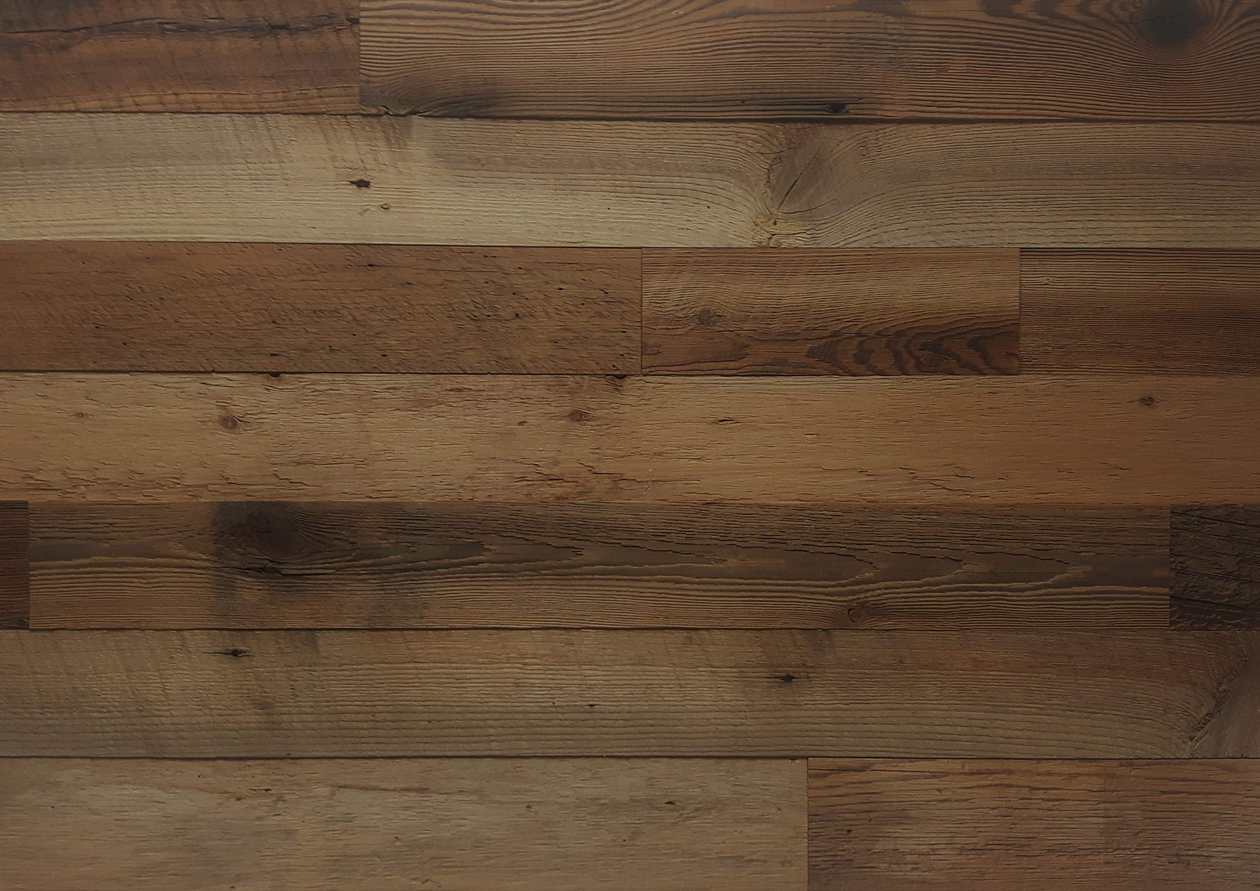 EAST COAST RUSTIC Reclaimed Barn Wood Wall Panels - Easy Install Rustic Wood DIY Wall Covering for Feature Walls (20 Sq Ft - 3.5'' Wide, Brown Natural)