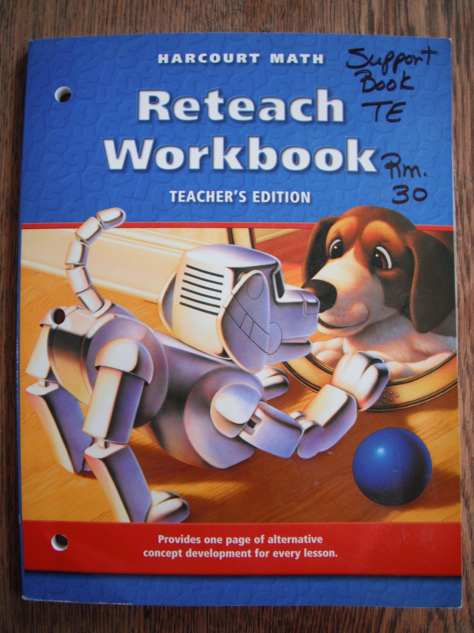 Harcourt Math Reteach Workbook Teacher's Edition Grade 3 California Ed.:  9780153206672: Amazon.com: Books