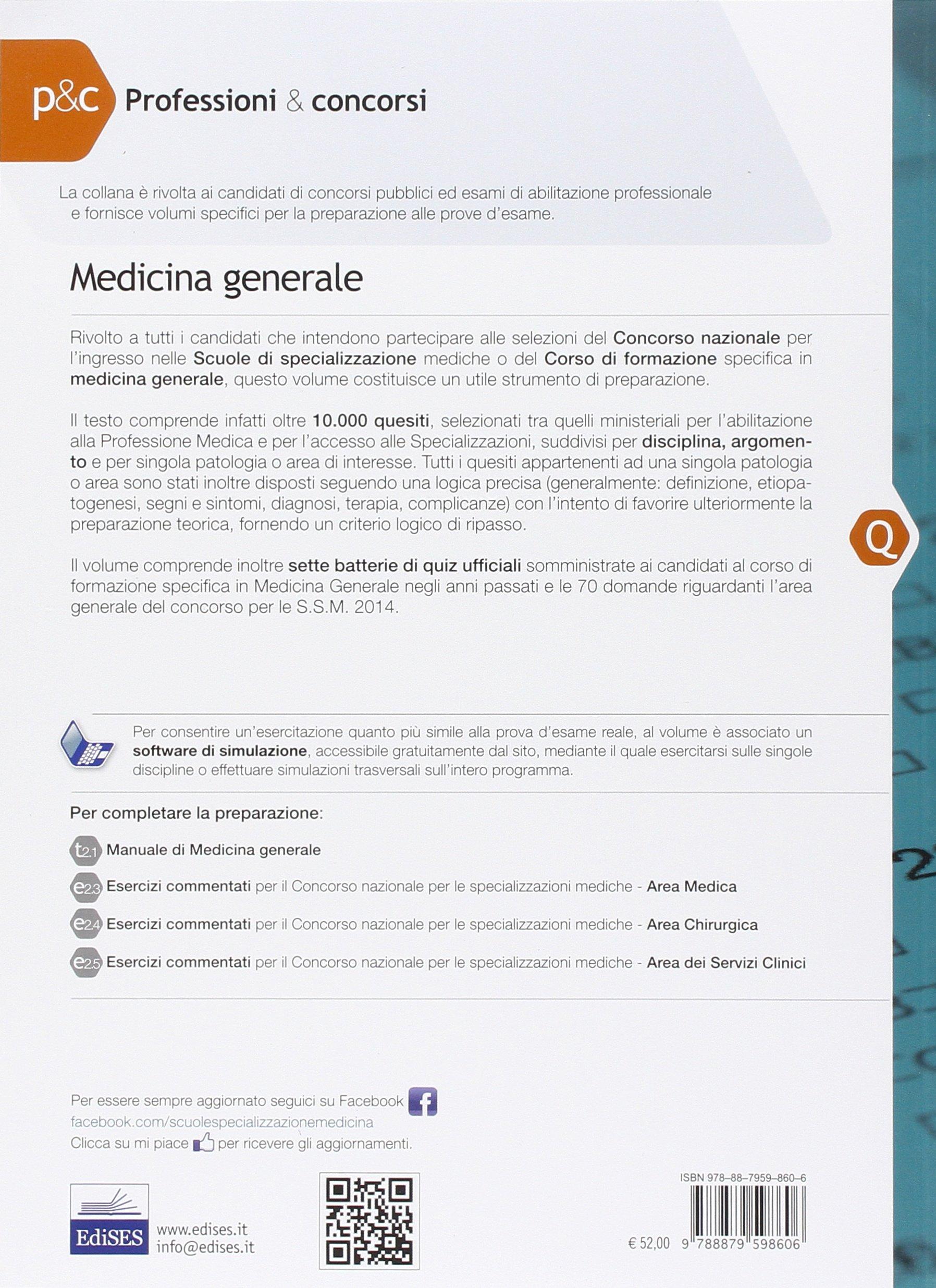 Amazon.it: 10.000 quiz di medicina generale per specializzazioni mediche. Con  software di simulazione - C. Vito - Libri