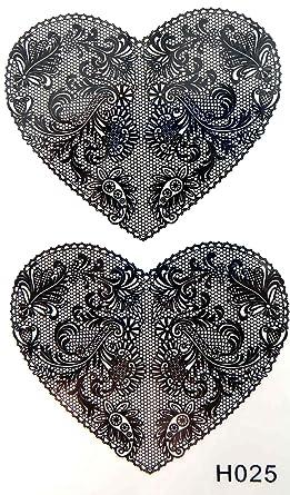 tattoo Black lace heart