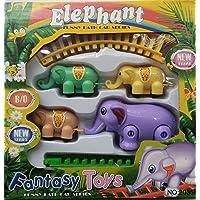 Malaxmi Toys Elephant Train with Tracks