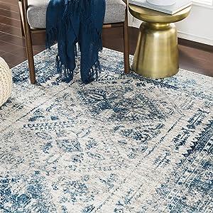 "Artistic Weavers Desta Blue/White Area Rug, 5'3"" x 7'3"""