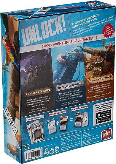 Asmodee SCUNL02FR - Juego de Aventuras Unlock Mystery Adventures ...