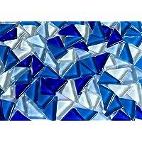 Sai Mosaic Art Triangular Glass Mosaics (200gm, Blue)