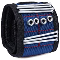 ACE Gadget – STRONG & LARGEST Magnetic Wrist band with ADJUSTABLE straps for ALL wrist size - Best Magnetic Wrist Arm Band for Holding Tools, Screws, Nails, Nuts and Bolts, Drill Bits, Screwdriver Bits, Pliers- Holds Small Metal Objects (blue)