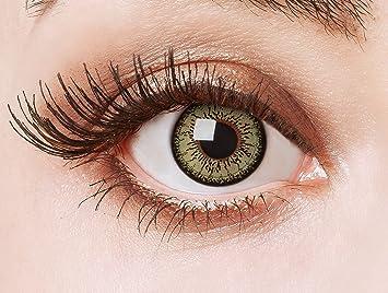 Gute Preise kinder unglaubliche Preise aricona Kontaktlinsen farbige Kontaktlinsen mit Stärke grüne 12  Monatslinsen, natürliche Jahreslinsen grün für Big Eyes, Contact Lenses  green ...