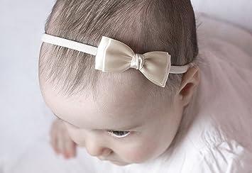 BABY BOW SATIN RIBBON ELASTIC HEADBAND HAIR ACCESSORIES FOR TODDLER BABY GIRL UK