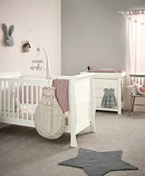 Pleasant Mamas Papas Mia Sleigh 2 Piece Nursery Furniture Set With Home Interior And Landscaping Ologienasavecom
