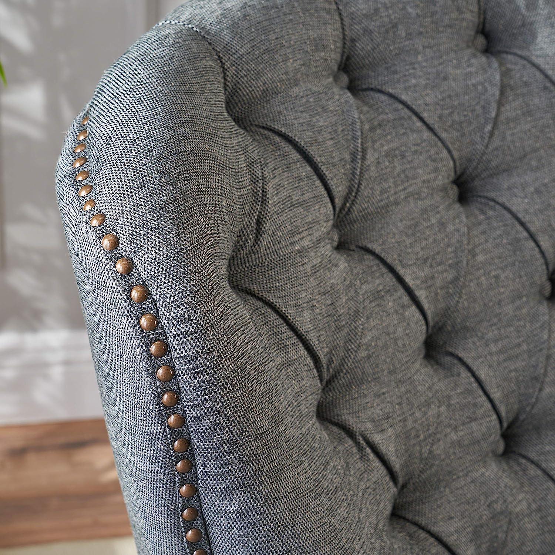 Christopher Knight Home Tafton Fabric Club Chair and Ottoman Set, 2-Pcs Set, Grey: Furniture & Decor
