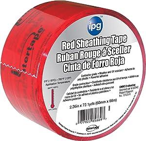 "Intertape Sheathing Tape, 2.36"" x 72.1 yd, Red/Black, 5560CNDR"