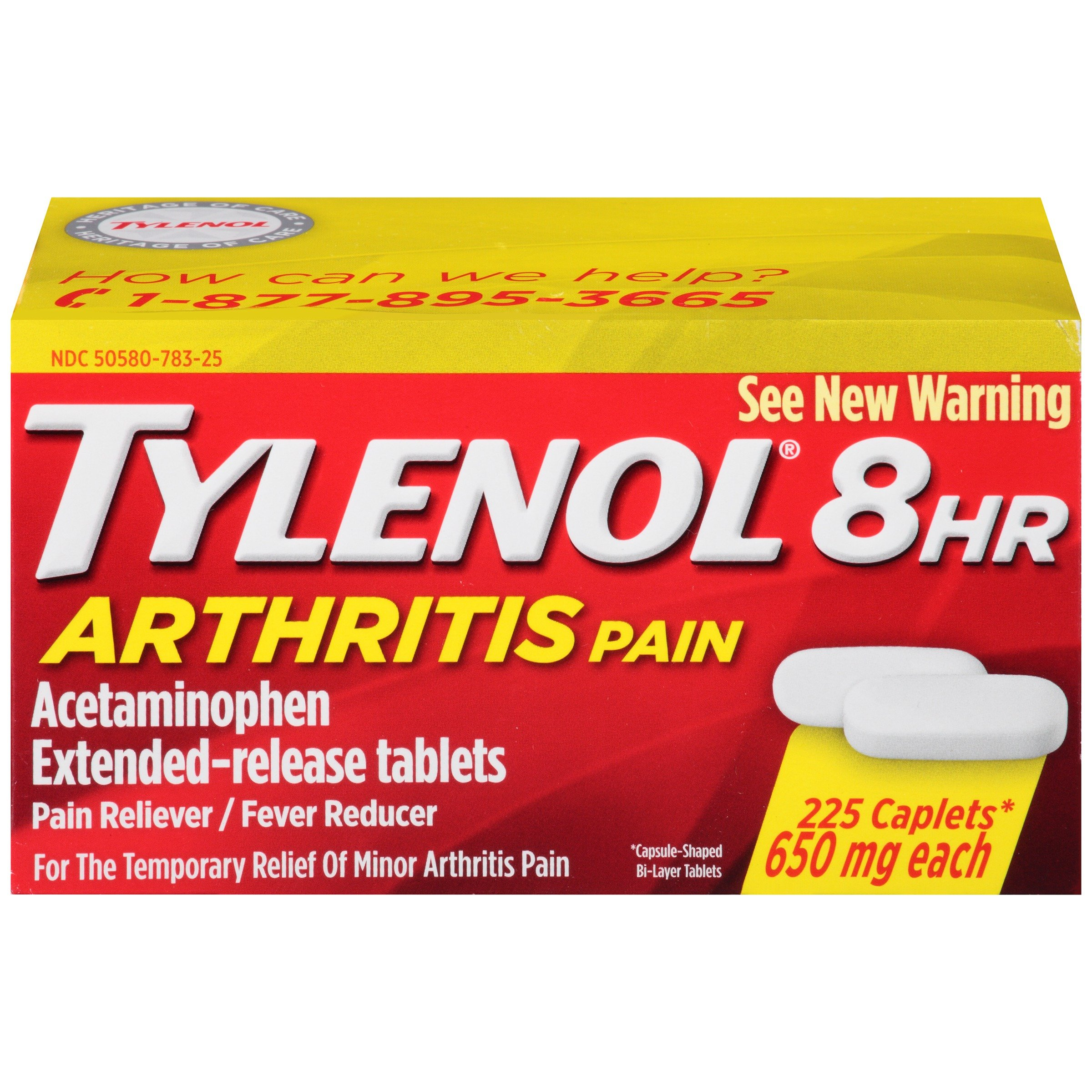 Tylenol 8 Hour Arthritis Pain Tablets with 650 mg Acetaminophen for Arthritis & Joint Pain, 225 ct