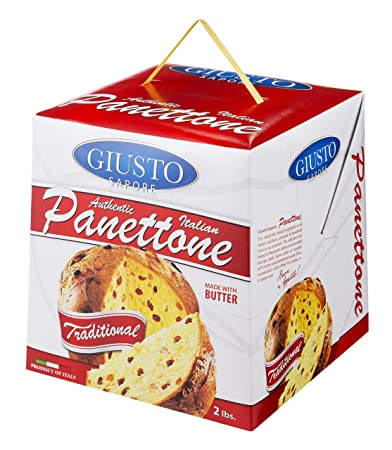 giusto sapore italian panettone original gourmet bread 2lb traditional dessert imported from italy