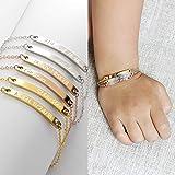 MignonandMignon Personalized Bracelet for Kids Childrens Jewelry New Baby Bracelet for Girls Gift for Her New Baby Children Bracelet - 2BR