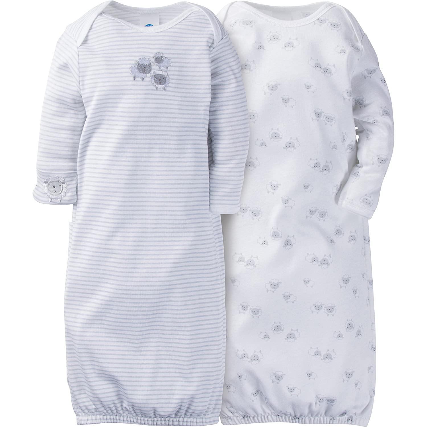 Gerber Baby Girls' 2 Pack Gown, Gerber Baby Girls 2 Pack Gown Elephants/Flowers 0-6 Months 93019216AG1706I