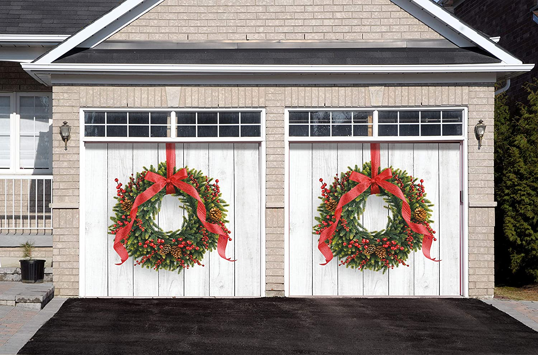 Amazon.com: Victory Corps Christmas Wreath - Holiday Garage Door