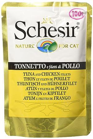 Schesir Gato Sobres 100 gr Atún con Pollo: Amazon.es: Productos para mascotas