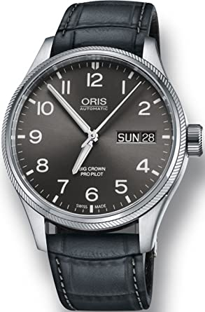 959bfb5ca19ad Oris Big Crown ProPilot Day Date Mens Stainless Steel 45mm Grey Face Oris  Watch - Grey